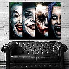 Poster Mural Comic 4 Generatioin Joker Pop Art Movie Batman 35x47 inch (90x120 cm) Canvas