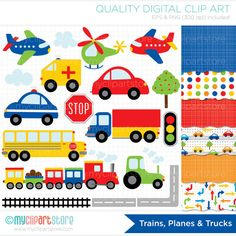 Clipart Combo  Transportation / Trains Planes & by MyClipArtStore