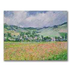 This ready to hang, gallery-wrapped art piece features a poppy field. Claude Monet was a founder of French impressionist painting, and the most consistent and prolific practitioner of the movement's p