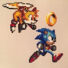 Sonic perler beads by hissxx