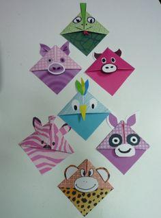 marque page en origami