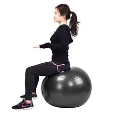 Ampersand Shops Yoga Pilates Exercise Fitness Balance Ball with Pump * Read more at the image link.