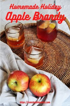 Homemade Apple Brandy! Make the colder Winter months warm up with this delicious homemade apple brandy recipe. Apple Brandy, Beer Recipes, Apple Recipes, Drink Recipes, Baking Recipes, Recipies, Dessert Recipes, Desserts, Cooking