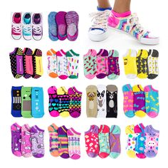Our no-show socks are anything but boring! Dress your toes in pretty prints like stars and hearts or rock our sweet-scented smelly socks. Funky Socks, Kids Socks, Designer Socks, No Show Socks, Tween Girls, Ankle Socks, Cool Patterns, Hearts, Rock