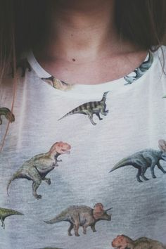 this shirt would have been my life as a child. honestly i am still obsessed with dinosaurs #noshameinmygame