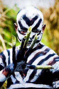 Papua New Guinea , Highlands, Mount Hagen festival singsing  © Eric Lafforgue