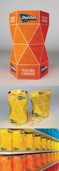 Doritos Packaging Design - The packaging can be closed from top even after opening.