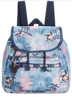 bc3a2288e11 LeSportsac 9808 Mickey Minnie Small Edie Backpack in Vacation Paradise