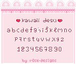 Kawaii Desu - Pixel Font - Now downloadable by r0se-designs