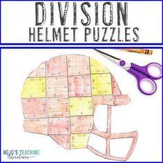DIVISION Football Math Centers | Sports Theme Classroom | 3rd, 4th, 5th grade, Activities, Basic Operations, Games, Homeschool, Math, Math Centers, Mental Math