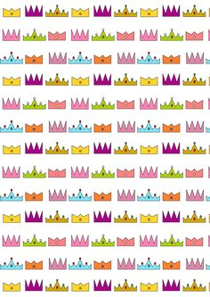 FREE printable #crown pattern paper   #ThreeKingsDay #ReyesMagos
