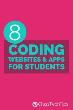 Coding websites and apps place valuable resources in the hands of students. With mobile and web-browser based tools, all ages can explore computer science. Computer Class, Computer Coding, Computer Technology, Computer Programming, Educational Technology, Teaching Technology, Technology Integration, Teaching Biology, Elementary Computer Lessons