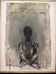 Alberto Giacometti Saw the real painting at the Met in NY. AMAZING!!!  Needs to be hanging in my living room