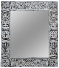 """When we designed the 40x46"""" frame, we imagined how perfect it would fit spacious bathrooms. #ETNIQ #aztec_mirror Entry Mirror, Floor Mirror, Wall Mirrors India, Rustic Bathroom Mirrors, Moroccan Mirror, Traditional Mirrors, Custom Mirrors, Amai, Beautiful Mirrors"""