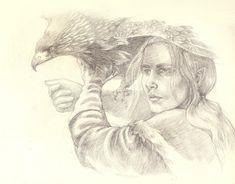 Hunter - Turkafinwe Tyelkormo, falconry fancier - by tuuliky.deviantart.com on @deviantART
