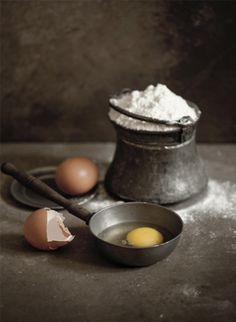 Flour & Eggs | #ingredients #messy #dark