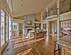 living room in Cape Cod-Shingle Style by Gelotte Hommas #architecture #woodflooring