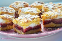 Przepis na ciasto kruche ze śliwkami. French Toast, Muffin, Sweets, Breakfast, Google, Food, Dessert Ideas, Food And Drinks, Baking