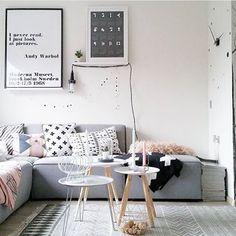 Sala em estilo nórdico escandinavo