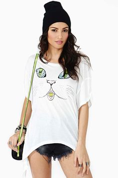 here kitty tee