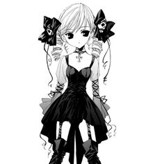 Anime girl drawings ❤ liked on Polyvore featuring anime