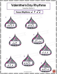 Rhythm and aural work for music classes.with a Valentine's Day theme. 20 pages! ♫ CLICK through to read more or SAVE for later! ♫