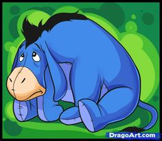 How to Draw Eeyore, Step by Step, Disney Characters, Cartoons ...