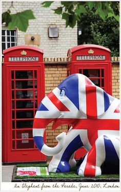 London's Elephant Parade in Union Jack