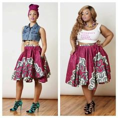 Love this African style skirt