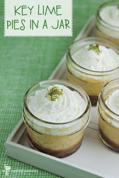 Key Lime Pies in a Jar