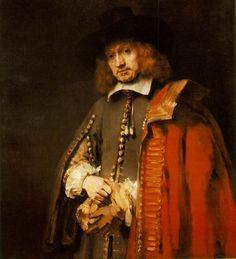 Портрет Яна Сикса (1654) (112 × 102). Rembrandt Harmensz van Rijn (1606-1669)