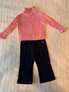 405b6b31885cc EUC Girls 18 - 24 Months Sweater Yoga Pants Turtleneck Pink Cute #fashion # clothing