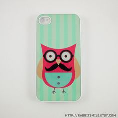 An owl with a mustache?! What more could I want in an iPhone case?