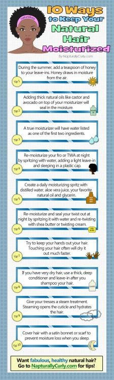 10 Ways to Keep Your Natural Hair Moisturized.