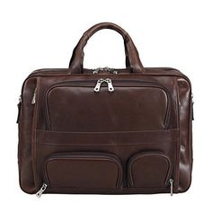 Business Bag Briefcase Leather Real Brown Carry On Overnight Large Travel NEW  #BusinessBagBriefcaseLeather