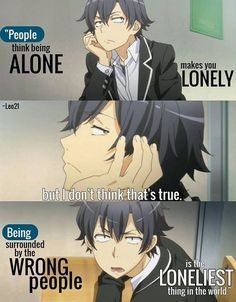Anime Fans For Anime Fans - True true true - Sad Anime Quotes, Manga Quotes, Anime Quotes About Love, Me Anime, Otaku Anime, Anime Art, Reality Quotes, Mood Quotes, Savage Quotes