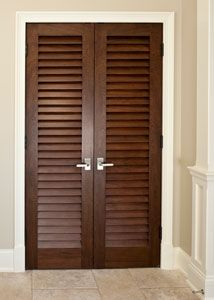 Custom Interior Mahogany Wood Door - Double - Solid Wood Mahogany