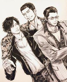 Yakuza Anime, Fandoms, Monochrome, Character Design, Manga, Eyes, Anime Stuff, Karaoke, Videogames
