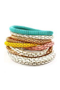 Adette mesh box chain bracelets~