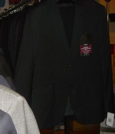 Marks & Spencer Super Travel Suit Black Wool New Tags Sizes 38 40 42 44 #MarksSpencer #TwoButton