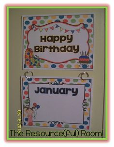 Happy Birthday Display Free Printable!