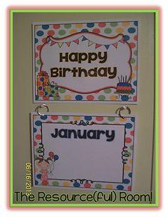 Happy Birthday Display Free Printable!