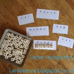 LarabeeUK: |LEARN|letter recognition with game tiles