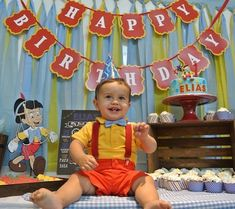 First Birthday: Eli's Pinocchio Party