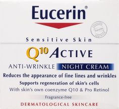 Eucerin Active Anti-Wrinkle Night Cream -- Check this awesome beauty product by going to the link at the image. Best Night Cream, Cream For Oily Skin, Oil Free Foundation, How To Apply Lipstick, Beauty Cream, Hormonal Acne, Best Beauty Tips, Prevent Wrinkles, Anti Wrinkle