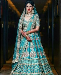 India Emporium is a one stop ethnic wear online store for all your online saree shopping, designer wear, salwar kameez, bridal wear, lehenga cholis & artificial jewellery needs. Indian Bridal Outfits, Indian Bridal Lehenga, Indian Bridal Wear, Indian Dresses, Bridal Dresses, Lehenga Wedding, Bridal Anarkali Suits, Bridal Sarees, Blue Bridal
