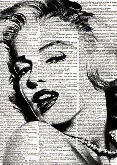 Marilyn Monroe Print Vintage Dictionary Art by VintageElleStudio, £5.50 http://www.pinterest.com/elenainfinito/printables/