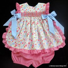 Mommy's Apron Strings: Linny's Pinny for Rose!