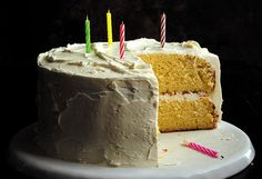 Birthday Cake Recipe Ideas - Golden Vanilla Birthday Cake - Oprah.com