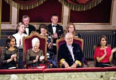 November 10, 2015- Queen Margrethe, Prince Henrik, Crown Princess Mary, and Princess Marie hosted a concert and dinner at Fredensborg Palace this evening for representatives of the Danish tourism industry